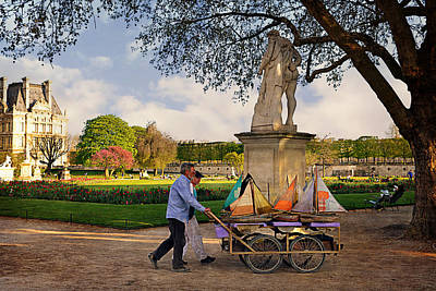 Building Exterior Digital Art - Jardin Du Luxembourg  by Maria Angelica Maira