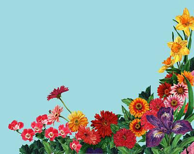 Gerber Daisy Mixed Media - Jardin by Steven Stines