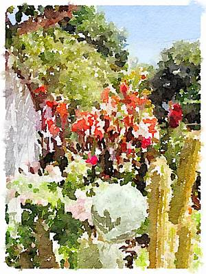 Digital Art - Jardines Garden by Shannon Grissom