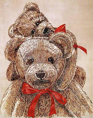 Jared's Bears Art Print by Linda Simon