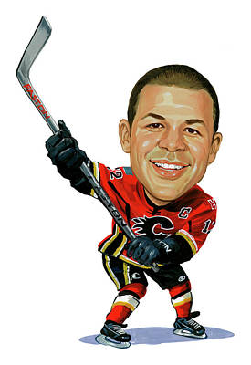 Sports Paintings - Jarome Iginla by Art