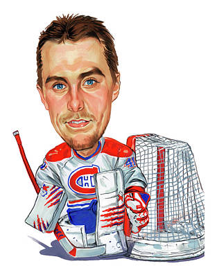 Montreal Canadiens Painting - Jaroslav Halak by Art
