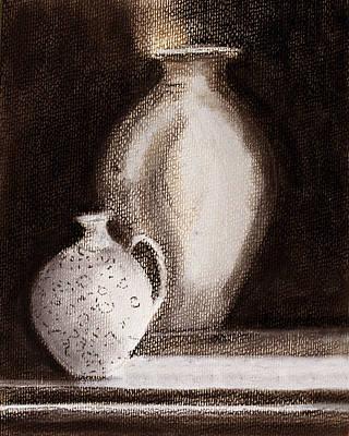 Pastel - Jars In Pastel by Linde Townsend