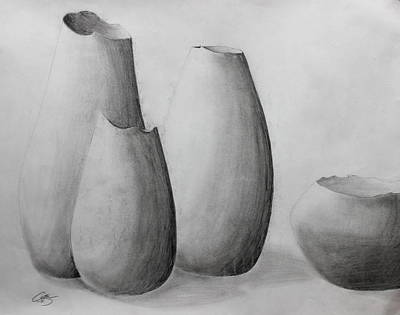 Clay Drawing - Jars Of Clay by Caitlin Fielding