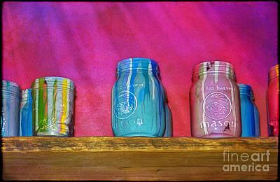 Photograph - Jars On A Shelf by Judi Bagwell