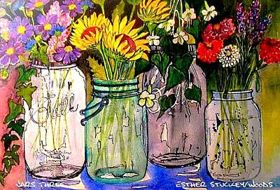 Painting - Jars Three by Esther Woods