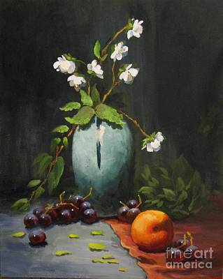 Painting - Jasmine And Peach by Carol Hart