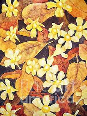 Painting - Jasmine Flowers by Kathy Staicer