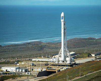 Noaa Photograph - Jason-3 Satellite Launch by Bill Ingalls/nasa