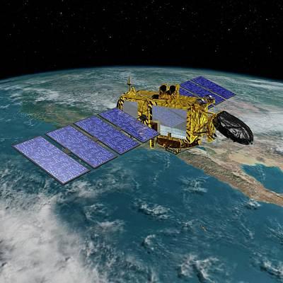 Astronautical Engineering Photograph - Jason-3 Satellite by Nasa