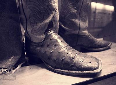 Country Music Hall Of Fame And Museum Photograph - Jason Aldean's Boots by Dan Sproul