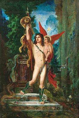 Jason And Eros Art Print by Gustave Moreau