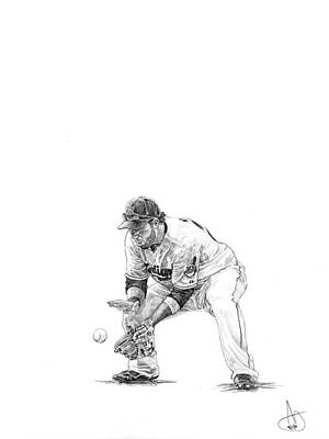 Cleveland Indians Drawing - Jason Kipnis by Joshua Sooter