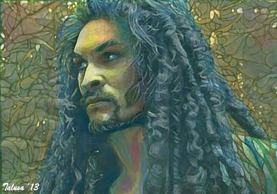 Tonga Digital Art - Jason Momoa by Teleita Alusa