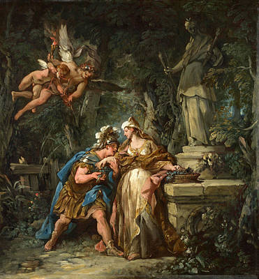 De Troy Painting - Jason Swearing Eternal Affection To Medea by Jean-Francois Detroy