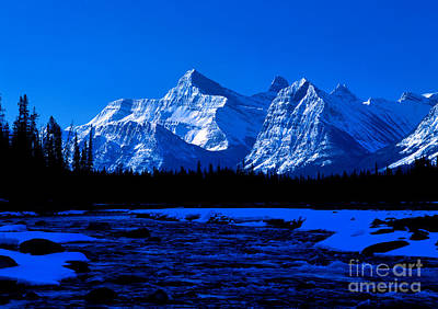 Photograph - Jasper - Athabasca River Spring Time by Terry Elniski