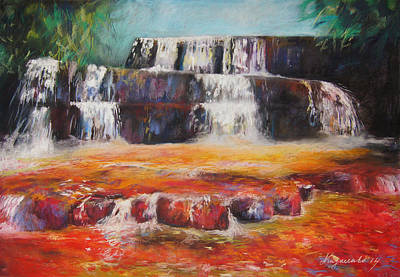 Moscow Mixed Media - Jasper Falls  by Alina  Kuzmenko
