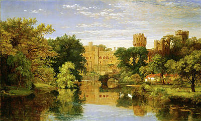 Jasper Cropsey Painting - Jasper Francis Cropsey, Warwick Castle, England by Quint Lox