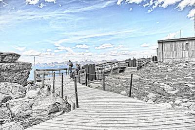 Walkway Digital Art - Jasper Lookout by Lori Frostad