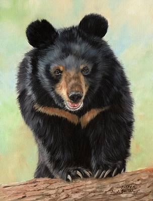 Painting - Jasper Moon Bear - In Support Of Animals Asia by David Stribbling