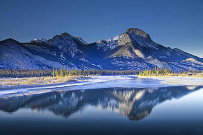 Photograph - Jasper Mountain Range In Winter by Randall Nyhof