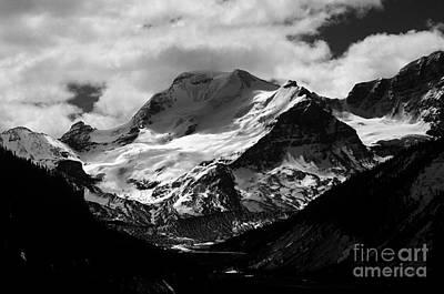 Photograph - Jasper - Mt. Athabasca Monochrome by Terry Elniski
