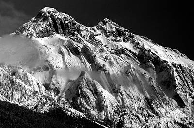 Photograph - Jasper - Snow Packed Mountain In Spring by Terry Elniski