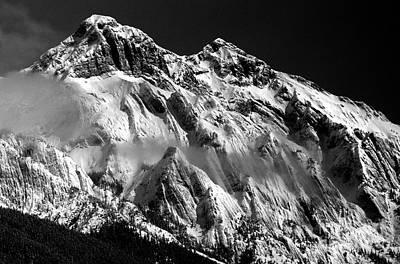 Israeli Flag - Jasper - Snow Packed Mountain In Spring by Terry Elniski