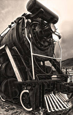 Photograph - Jasper Steam Train by Gregory Dyer