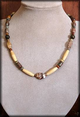 Lampwork Jewelry - Jasper Tribal by Jan Brieger-Scranton