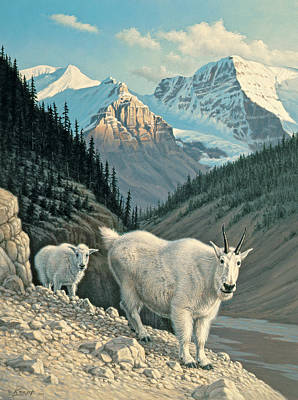 Mountain Goat Painting - Jaspergoats by Paul Krapf