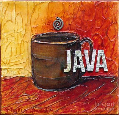 Bistro Mixed Media - Java by Phyllis Howard