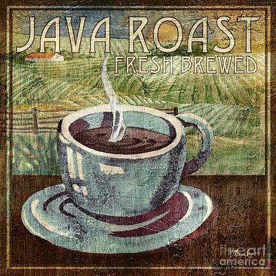 Cappuccino Painting - Java Roast by Paul Brent