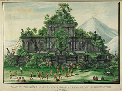 Religious Drawings Photograph - Javanese Temple by British Library