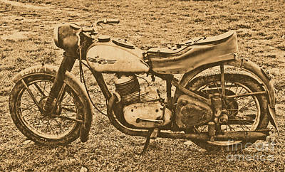 Jawa Photograph - Jawa Motorcycle by Joanna Cieslinska