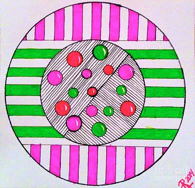 Emerging Artist Drawing - Jawbreakers by Anita Lewis