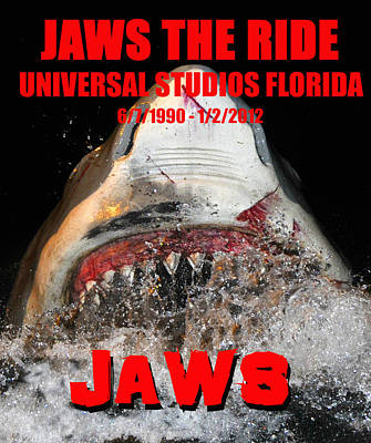 Jaws The Ride Rip Art Print by David Lee Thompson