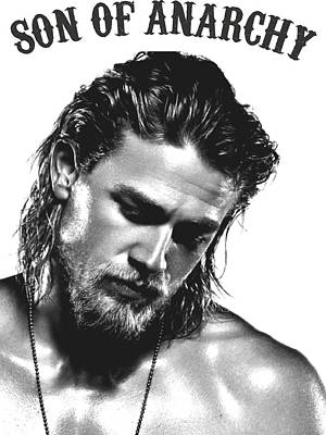 Sons Of Anarchy Digital Art - Jax Teller - Son Of Anarchy by Helena Kay
