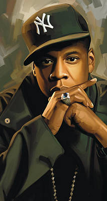 Z Painting - Jay-z Artwork 2 by Sheraz A