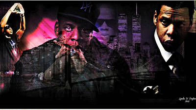 Jay Z Digital Art - Jay Z by Lynda Payton
