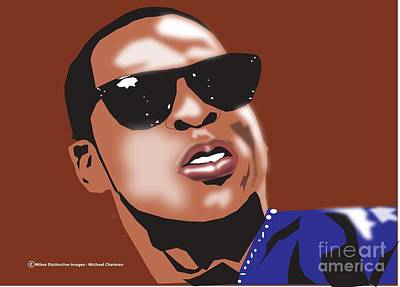 Jay Z Digital Art - Jay-z by Michael Chatman