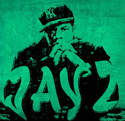 Jay Z Digital Art - Jay Z Urban Jungle by Brian Reaves
