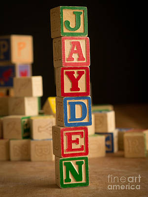 Photograph - Jayden - Alphabet Blocks by Edward Fielding