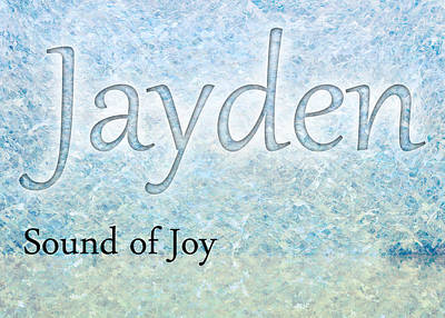 Kids Painting - Jayden - Sound Of Joy by Christopher Gaston