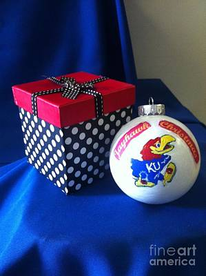 Universities Painting - Jayhawk Christmas by MEA Fine Art