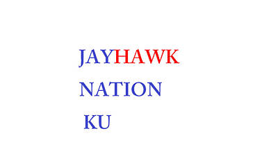 Digital Art - Jayhawk Nation by Aaron Martens