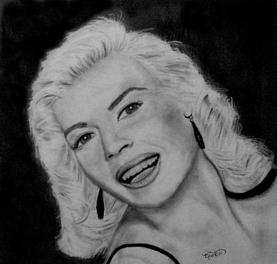 Drawing - Jayne Mansfield by Kimber  Butler