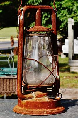 Photograph - Hurricane Lantern At Jaynes Reliable Antiques And Vintage by Kim Bemis
