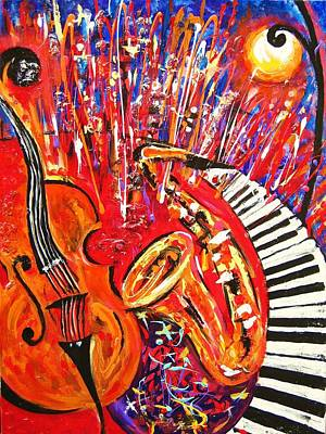 Jazz And The City 2 Art Print