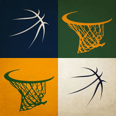 Basket Photograph - Jazz Ball And Hoops by Joe Hamilton